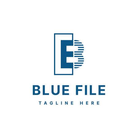 Letter B or A3 blue file logo design