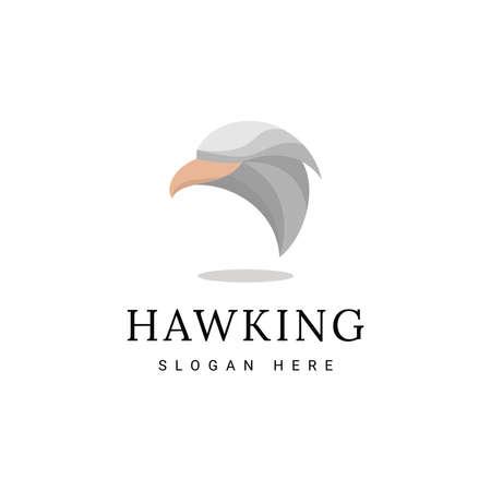 Abstract cartoon hawk logo design
