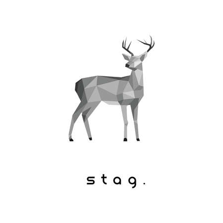 Vector geometric stag logo