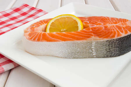 Red salmon on the plate Stock Photo - 30529778