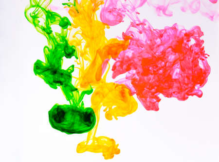 Food color drop and dissolve in water for abstract and background.