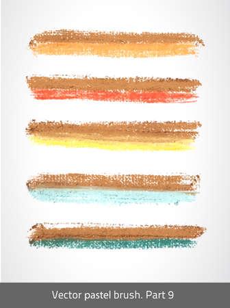 painterly effect: Vector set colorful stroke. Vector pastel brush. Art template. Texture lines. Handmade design. Decorative stroke. Vector artistic brush. Chalk color. Illustration