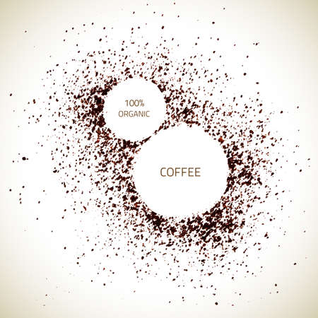 Vector Natural Coffee Texture. Vector Coffee. Organic Frame ...