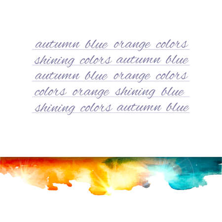 painterly effect: Vector watercolor background. Colorful abstract texture. Vector design elements. Note background. Vector watercolor splash