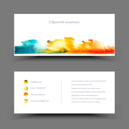 painterly: Vector watercolor set banner. Colorful abstract texture. Vector design elements. Painterly background. Vector watercolor splash