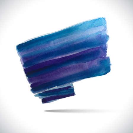 painterly effect: Vector watercolor background. Colorful watercolor texture. Vector handmade design elements. Blue flag. Vector watercolor splash Illustration