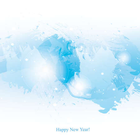 painterly effect: watercolor New Year background.  Illustration
