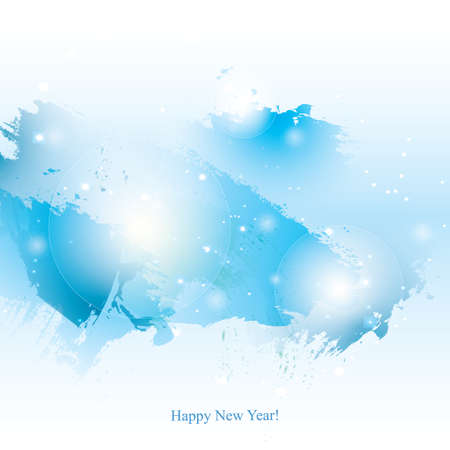 watercolor New Year background. Colorful abstract texture. design elements. watercolor splash. winter art background. Grunge blue.