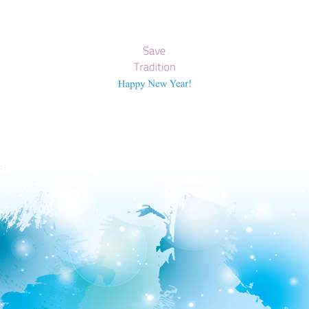 painterly effect: watercolor New Year background. Colorful abstract texture. design elements. watercolor splash. winter art background. Grunge blue. Illustration