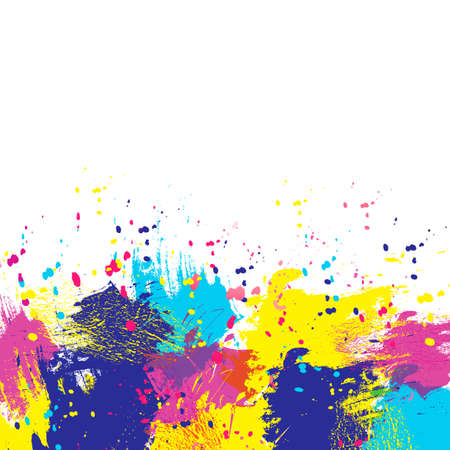 painterly effect: Vector watercolor background. Colorful abstract texture. Vector pop-art  background. Vector watercolor splash.