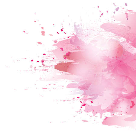 Vector watercolor pink background. Colorful abstract texture. Vector watercolor splash