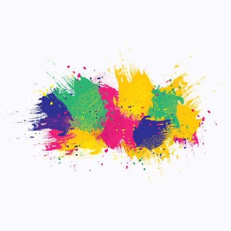 painterly effect: Vector watercolor background. Colorful abstract texture. Vector design elements. Grunge background. Vector watercolor splash
