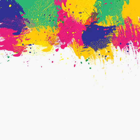 painterly effect: Vector watercolor background. Colorful abstract texture. Vector design elements. Grunge color background. Vector watercolor splash