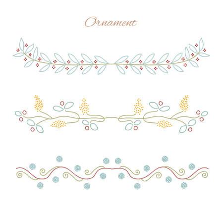 garniture: Vector ornament element. Vector flower ornament. Vector design elements