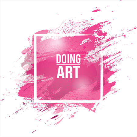 Vector watercolor background. Colorful abstract texture. Vector design elements. Vector watercolor splash. Violet art background. Grunge frame. Handmade unique