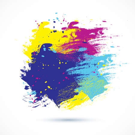 painterly effect: Vector watercolor background. Colorful abstract texture. Vector design elements. Grunge background. Vector watercolor splash.
