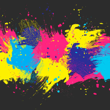 painterly effect: dark watercolor background. Colorful abstract texture. Design elements. Painterly illustration. watercolor splash.