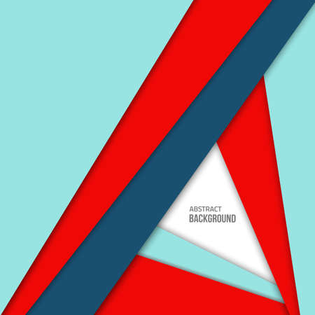 Material design background. Flat design layout. Abstract shape material design. flat background. Fashion red background