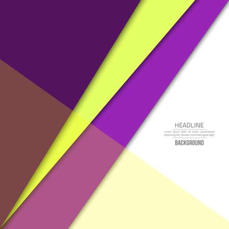 Violet material design background. Flat template. Fashion background. Abstract shape material design. Illustration