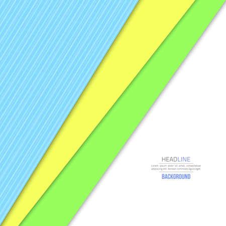 Material design background. Flat design layout. Abstract shape material design. flat background. Fashion background green