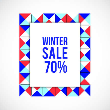 signboard form: colorful frame background. Shopping time. Geometry frame. New years sale. Market background. Vector winter sale. Christmas sale.