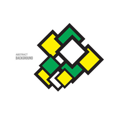 constructive: green yellow abstract. minimal style background. Modern geometric shape. design elements. Business sale label.