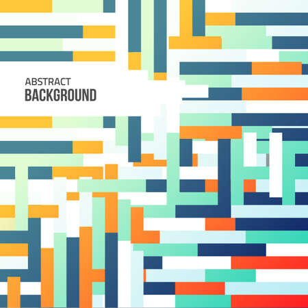 Vector geometrical background. Colorful banner. Minimal style.