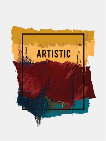 racy: Vector colorful painterly background. Abstract texture. Ethnic element. Brown blot