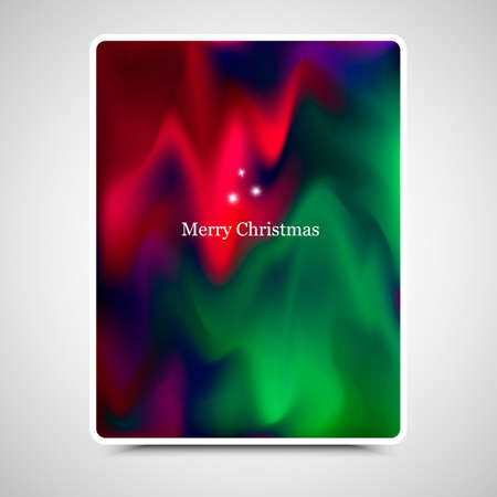 painterly effect: Vector holidays shining background. New Year green poster. Merry Christmas red card. Colorful greeting card