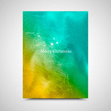 painterly effect: Vector holiday background. New Year card. Merry Christmas banner.
