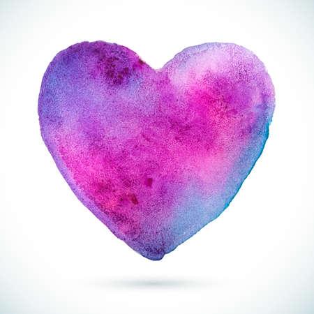 incredible: Heart-Violet-Blue Illustration