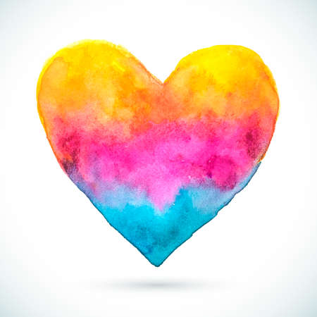 Heart-Pink-Yellow-Blue-Shape