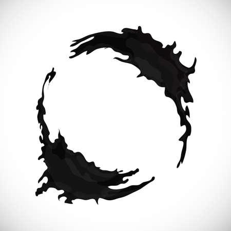 Round-shape-black Illustration