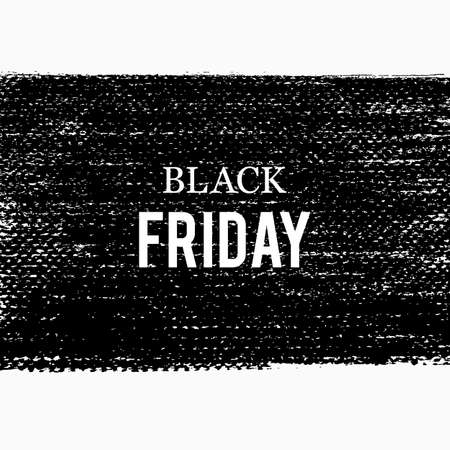 Vector dark grunge background. Black Friday sale template. Discount banner. Grunge black frame. Texture backdrop