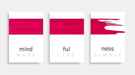 Banner-mindfulness-pink Reklamní fotografie - 104235663
