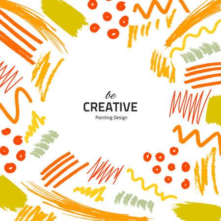 Pennelli gialli creativi