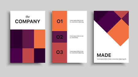 Vector modern banner set. Corporate business brochure. Vector colorful graphic design. Business cover. Template for business.