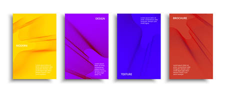 Fluid color covers set. Colorful bubble shapes with gradients.
