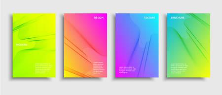 Vector fluid color covers set. Broshure with a gradient shape. Multicolored technology background Vektoros illusztráció