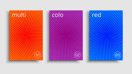 Minimal covers design. Vector colorful halftone gradients. Futuristic geometric patterns.