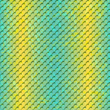Vector seamless tropical pattern. Tropical texture for clothes, textiles, Vector color chameleon. Fish skin texture. Vector fish sacale pattern.