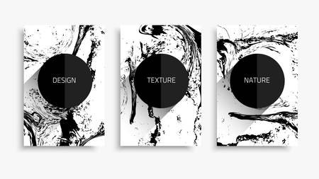 Vector natural texture. Modern texture design. Grunge layout with curled linear texture . Banner set with the flowing lines.