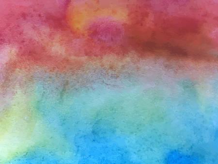 Textura de acuarela de vector. Fondo de acuarela vintage. Hermosa pintura colorida.