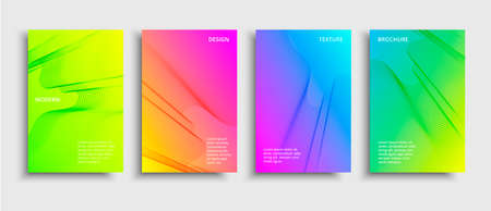 Minimal covers design. Vector modern design. Futuristic geometric shapes. Multicolored technology background
