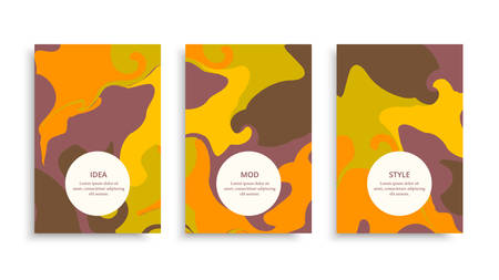 Vector modern banner set. Multicolored astract book cover. Vector funny cards. A4 page background.