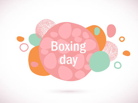 Vector colorful boxing day banner. Abstract glitch template. Sale template. Discount banner. Shopping orange background.