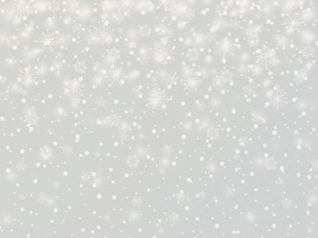 Winter background with snowflakes. Vector Illustration. 矢量图像