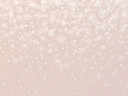 Winter background with snowflakes. Vector Illustration. Ilustração