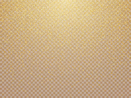 Vector golden luxury glitter bokeh lights background. Vector Illustration.