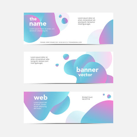 Set of modern abstract vector brochure ready for use to your technology business event.